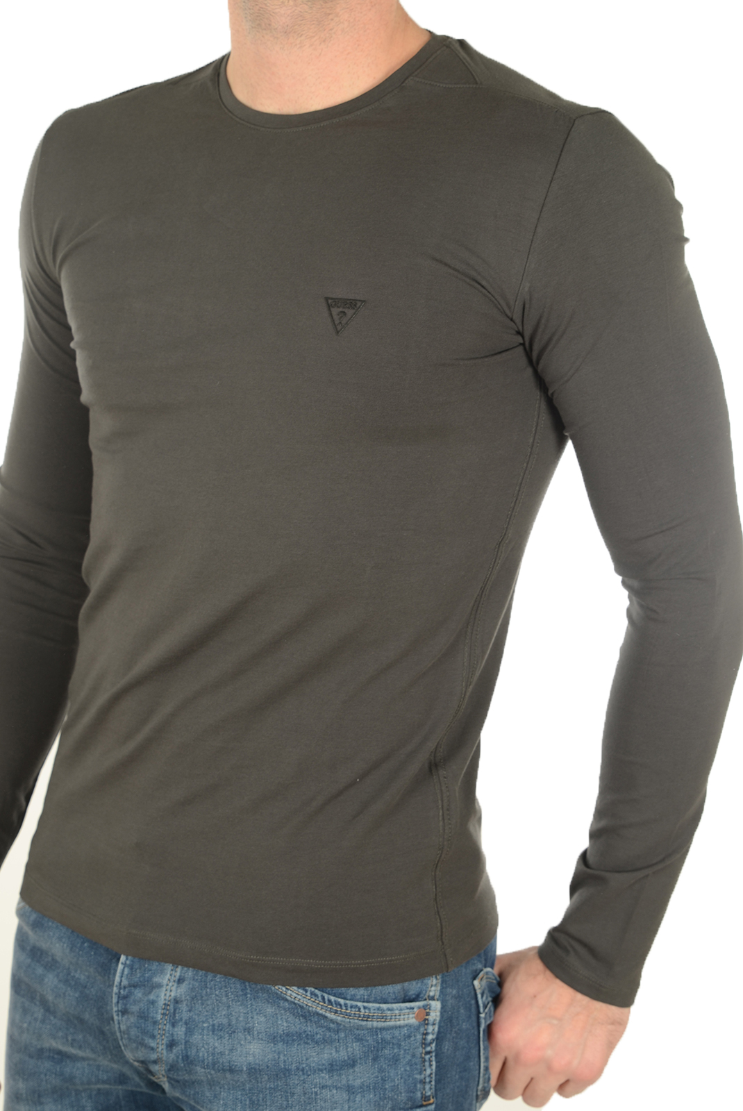 GUESS TEE-SHIRT HOMME STRETCH BASIC M64I49