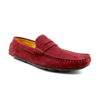MOCASSINS EN CUIR BORDEAUX HOMME BY LOLAGULIANA DD9005