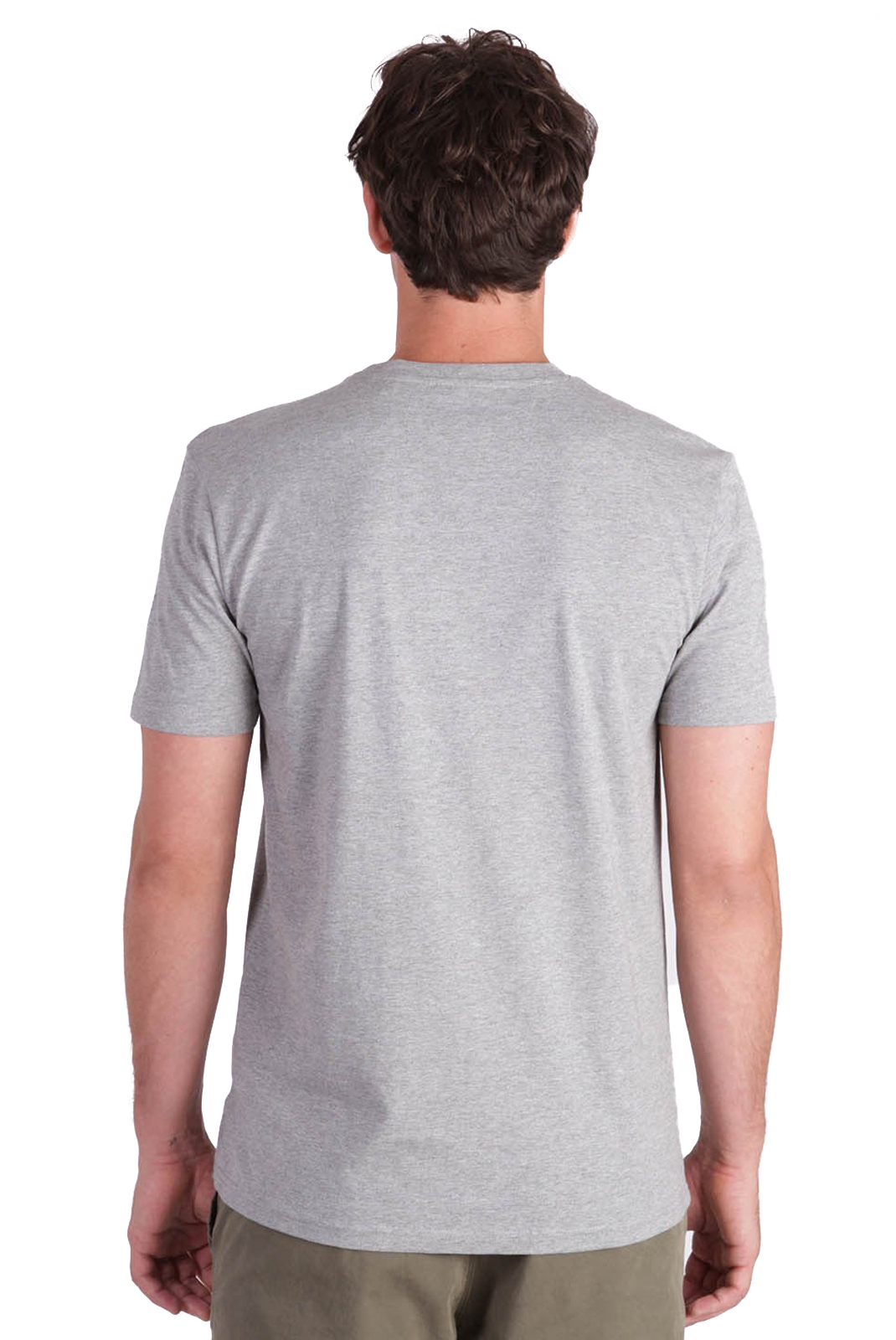 KAPORAL TEE-SHIRT OLARK GRIS AVEC INSCRIPTION RELIEF HOMME