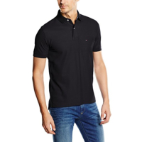 TOMMY HILFIGER POLO MANCHES COURTES HOMME NOIR