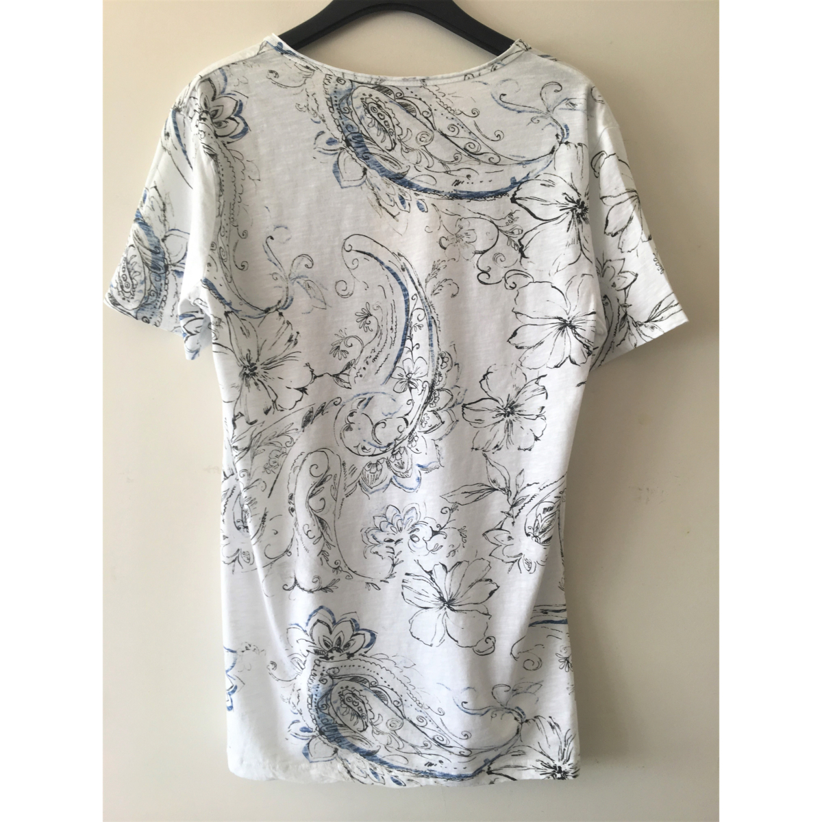 MADE IN ITALY TEE-SHIRT A MOTIFS BLANC HOMME