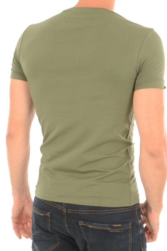 Guess Tee-shirt Kaki M73i55 Stretch Pour Homme