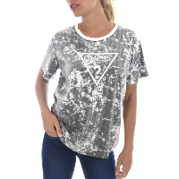 GUESS JEANS T-SHIRT W82P22 PAILLETTES LOGO TRIANGLE