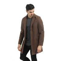 MANTEAU HABILLE FRILIVIN STRETCH MARRON HOMME