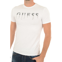 TEE-SHIRT STRETCH PRINTE M74I33 GUESS JEANS BLANC HOMME