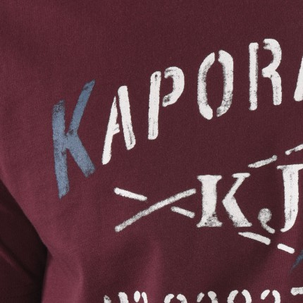 Kaporal Tee-shirt Rouge Makao Pour Homme
