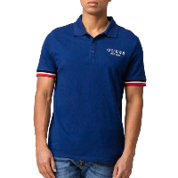 GUESS JEANS POLO M93P43-K8510 MANOR BLUE HOMME