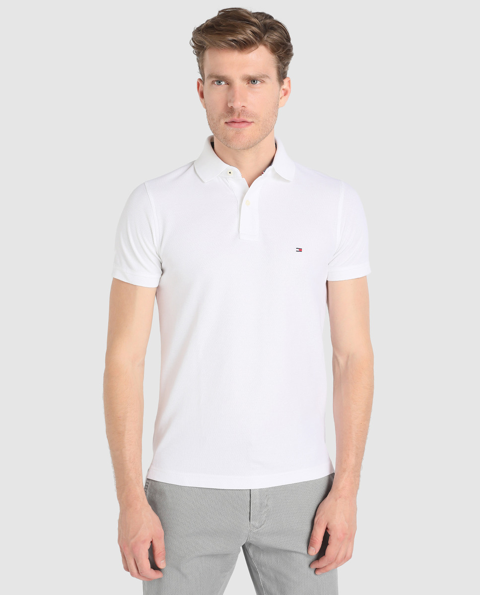 Polo Blanc Tommy Hilfiger Homme