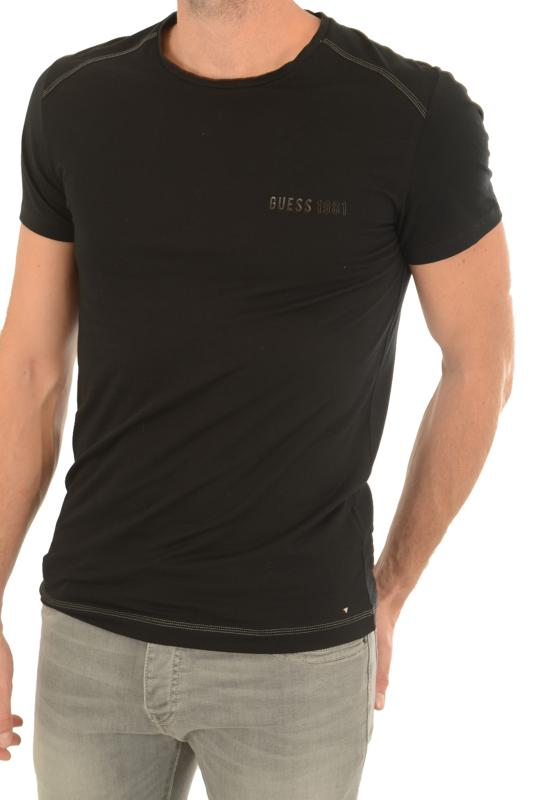 GUEES T-SHIRT HOMME U74M42 JR004 NOIR