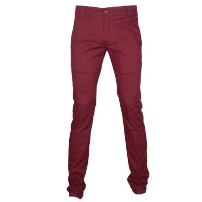 PANTALON CHINO HOMME COUPE SEMI SLIM BORDEAUX LEEYO