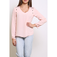 "HAUT POUR FEMME ""SO CHIC"" ROSE MANCHES LONGUES 100% POLYESTER"
