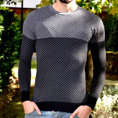 PULL NOIR COL ROND HOMME