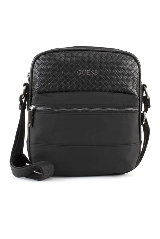 GUESS SACOCHE MILANO TOP ZIP CROSSBODY NOIR