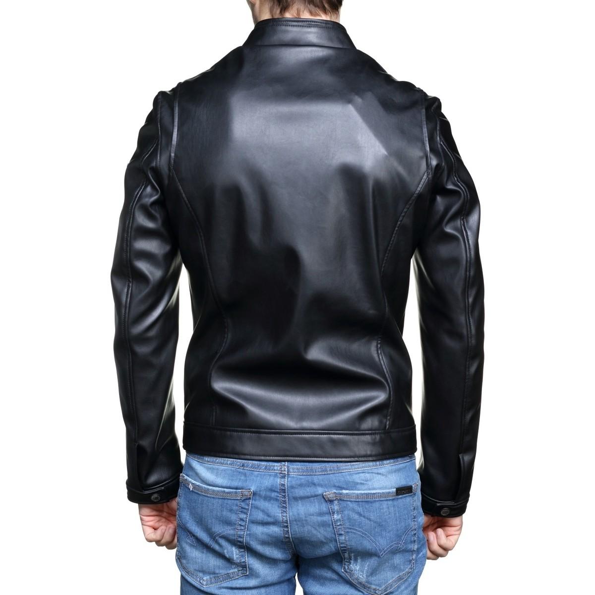 Style Jeans M82l10 Motard Noir Blouson Homme Guess fyvYb6g7