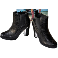 SERGIO TODZI  BOTTINES NOIR A TALON