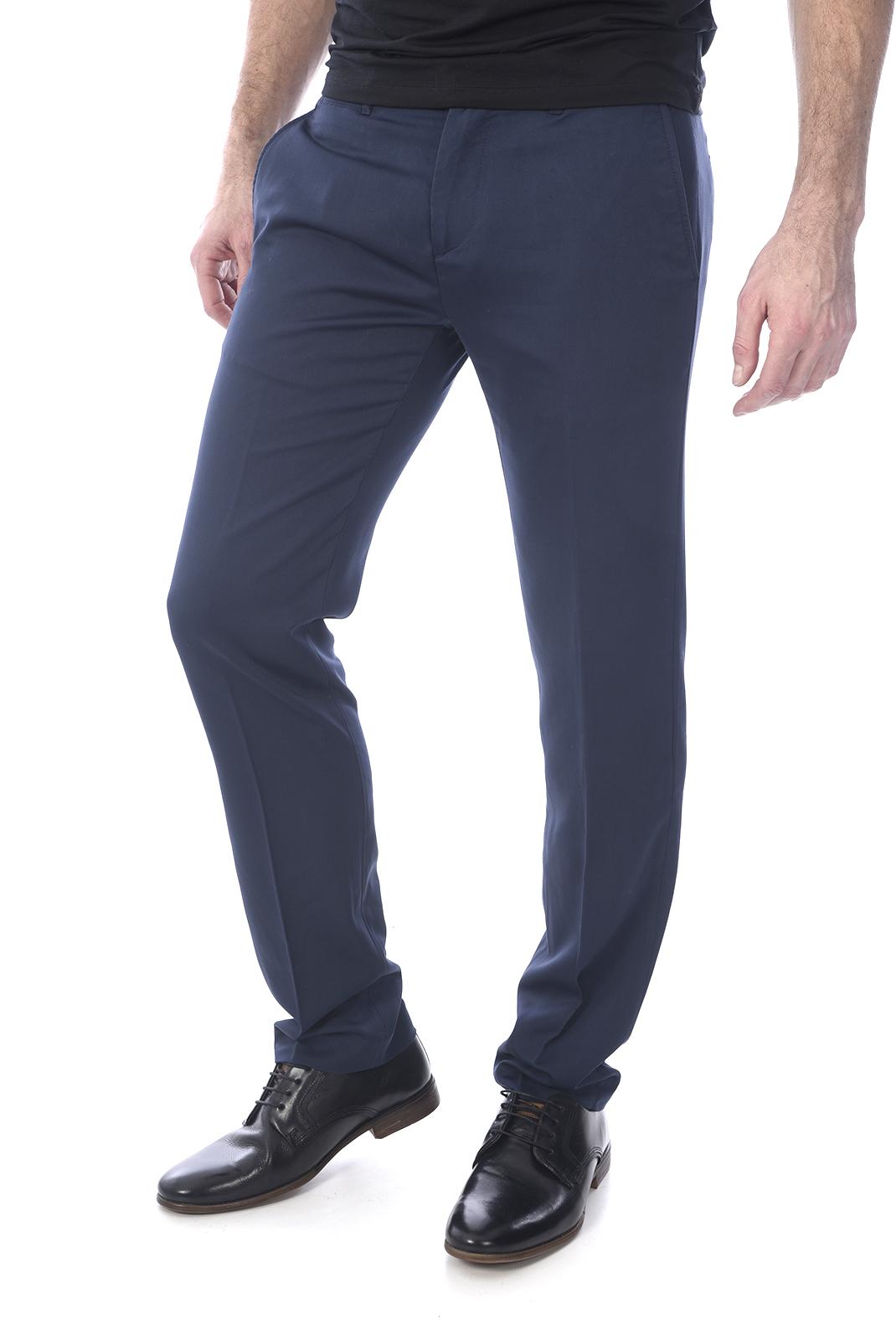 guess jeans pantalon de ville fluide stretch m73b17 bleu. Black Bedroom Furniture Sets. Home Design Ideas