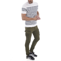 JACK AND JONES PANTALON TREILLIS ANTI FIT PAUL