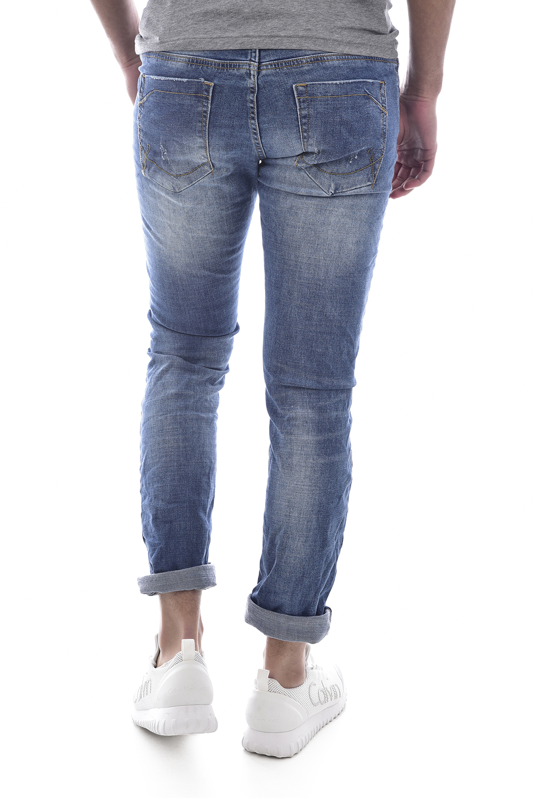 Leo Gutti Jean Bleu Taille Basse Slim Light Wash