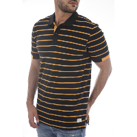 JACK & JONES POLO HOMME COTON PIQUE RAYE STRIPE JAUNE