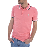 GUESS JEANS M02P40 K7O60 GRADY - POLO ROSE MANCHES COURTES HOMME