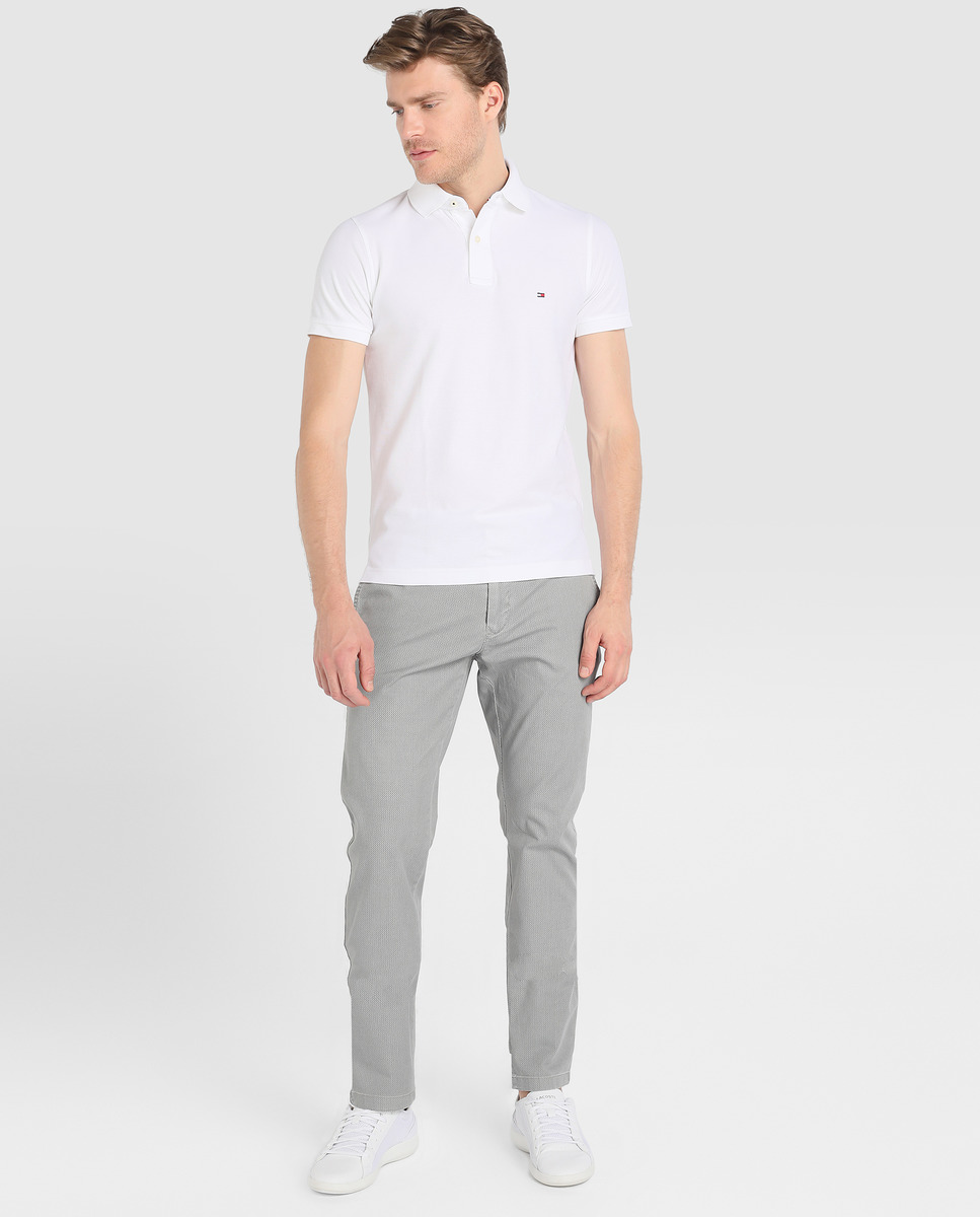 TOMMY HILFIGER POLO BLANC A MANCHES COURTES