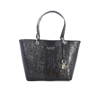 GUESS JEANS SAC A MAIN STYLE CROCO NOIR HWCL66 91230 KAMRYN
