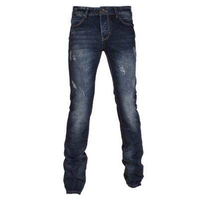 JEANS BLEU HOMME COUPE SEMI SLIM FERMETURE A BOUTONS