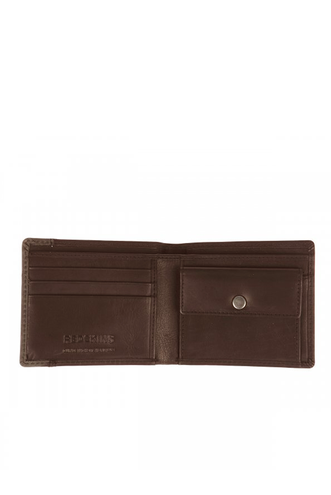 REDSKINS PORTEFEUILLE CUIR FACE MARRON HOMME