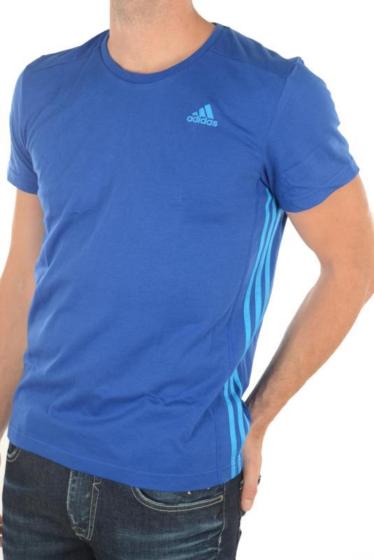 Tee Shirt Adidas Homme Climalite Bleu Essential Promos