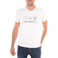EMPORIO ARMANI 273911 6P206 - TEE-SHIRT GRAPHIC BLANC MANCHES COURTES HOMME