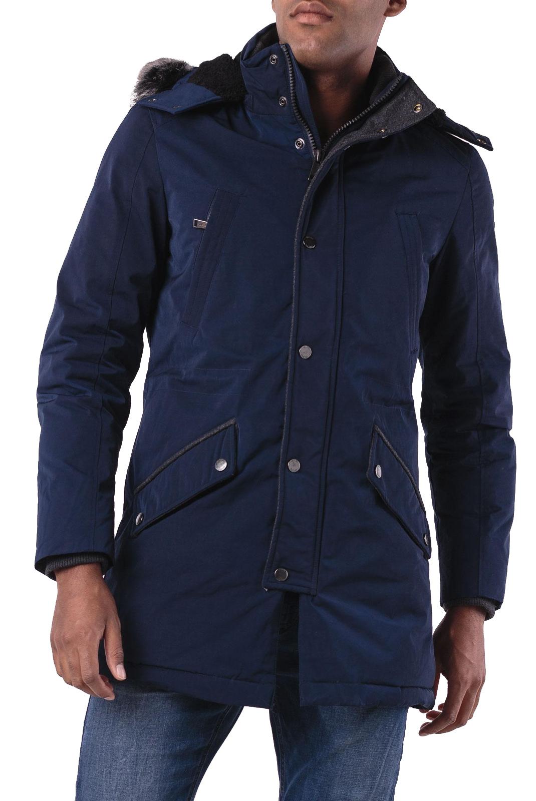 Guess M84l08 Capuche Jeans Avec Homme Bleu Parka 0PkOwn