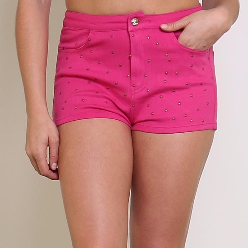 ef7a4ef702 Shorts rose pour femme-Coton| Lolaguliana.com