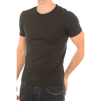TEE-SHIRT GUESS M74I71 MANCHES COURTES NOIR HOMME