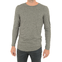 JACK AND JONES T-SHIRT LOGAN TEE LS CREW NECK