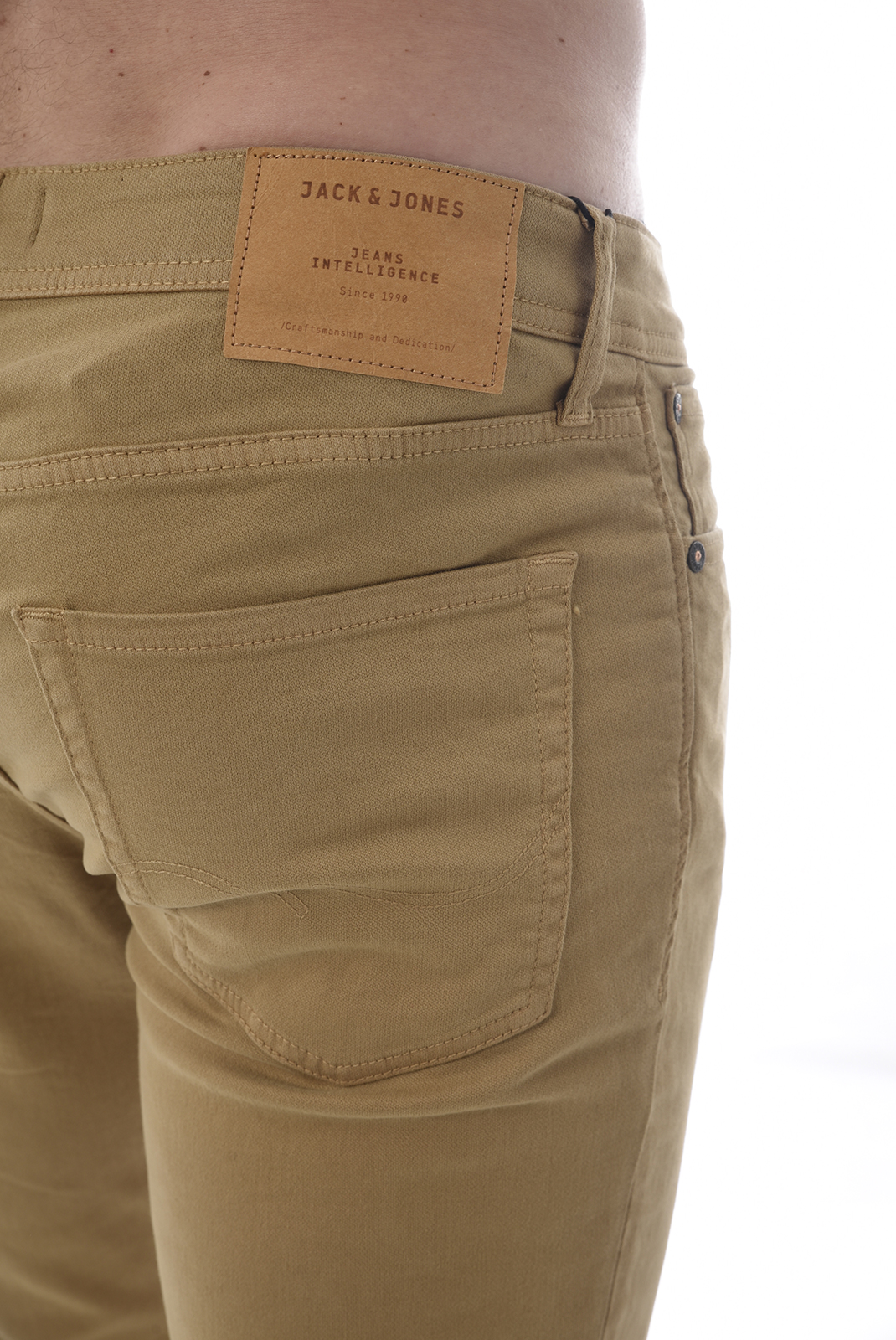 JACK AND JONES PANTALON GLENN ORIGINAL AKM 696 BEIGE MARRON HOMME