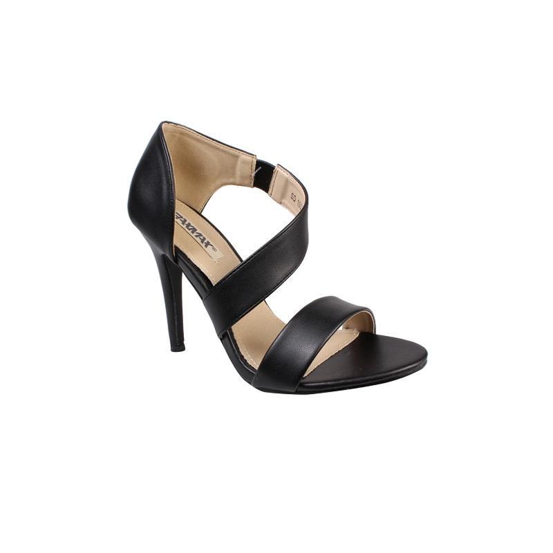Noir Chaussures femme À Sandales Talon Za8qz
