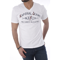 Kaporal Tee-shirt Blanc Makao Pour Homme
