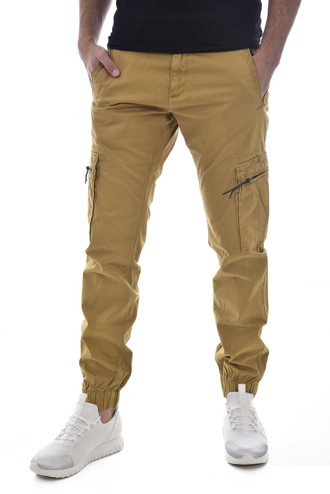 9fd68aa5eec1b KAPORAL PANTALON MULTIPOCHES CHEVILLES ELASTIQUEES GIPSY JAUNE HOMME