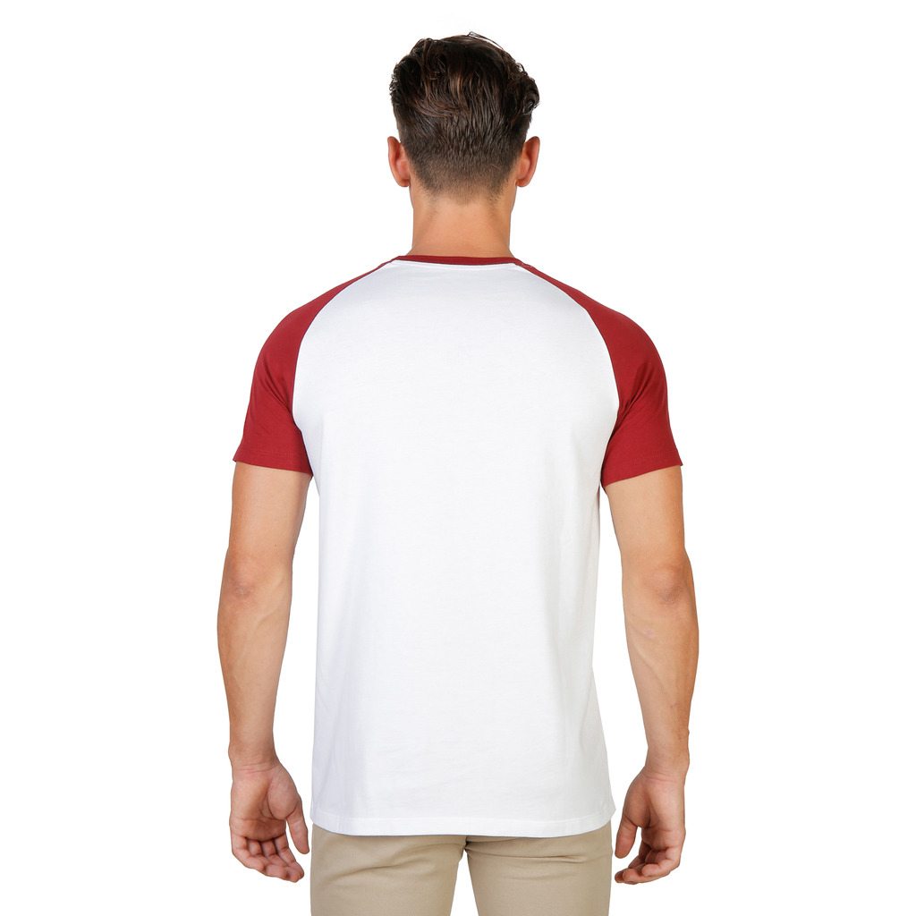 T-SHIRTS HOMME OXFORD UNIVERSITY ORIEL RAGLAN MM ROUGE