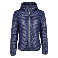 Guess Blouson Bleu Light À Capuche Thermor Technologie M91l24wb0m0