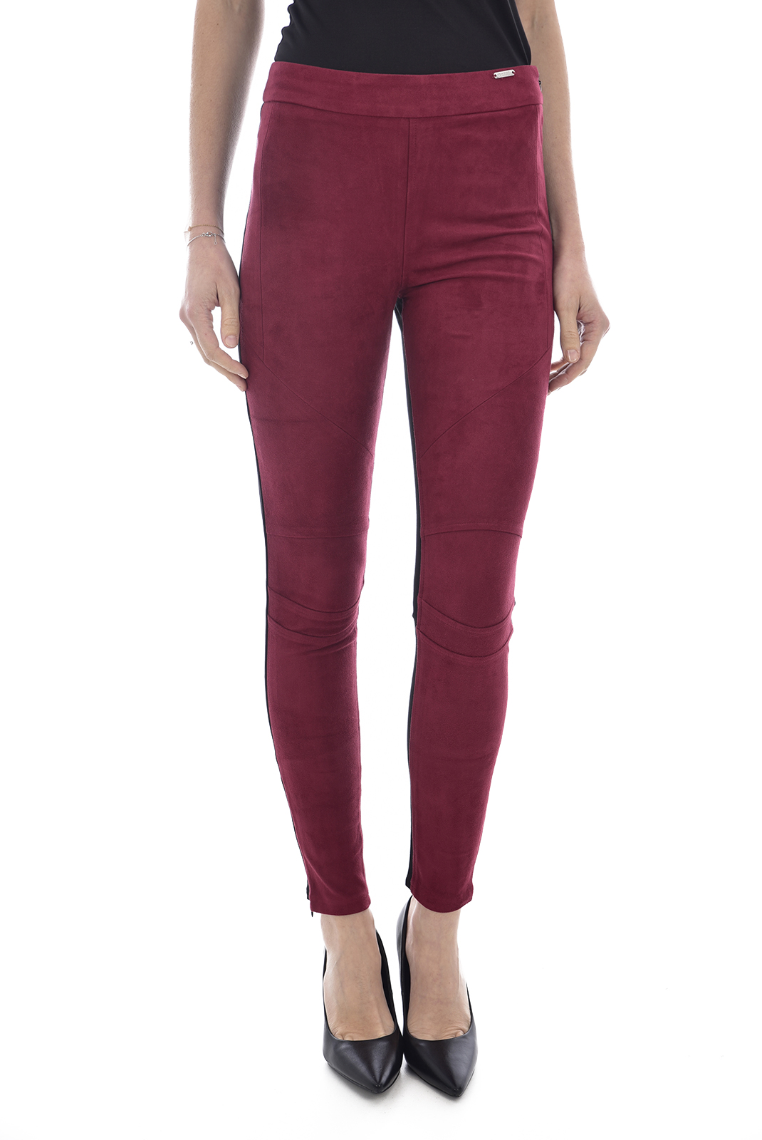 GUESS JEANS W81B02K6N80 - LEGGING ROUGE TAILLE HAUTE FEMME