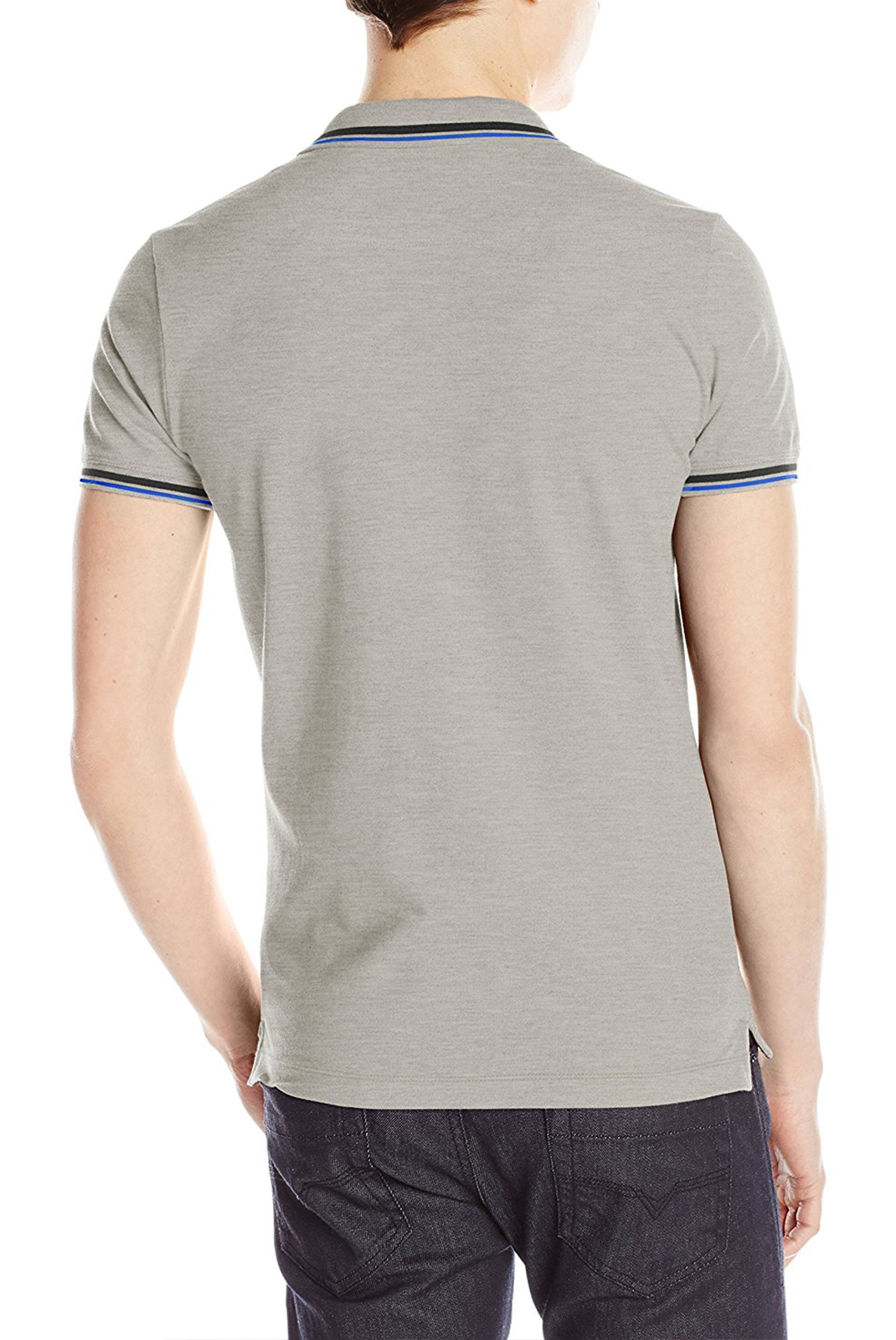 DIESEL HOMME POLO T-OIN GRIS