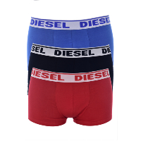 DIESEL TRIPACK BOXERS STRETCH SHAWN 0GAFN MULTICOLOR HOMME