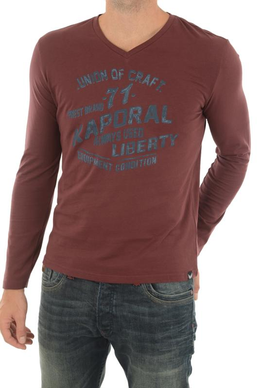 KAPORAL MARK TEE-SHIRT MANCHES LONGUES  ROUGE