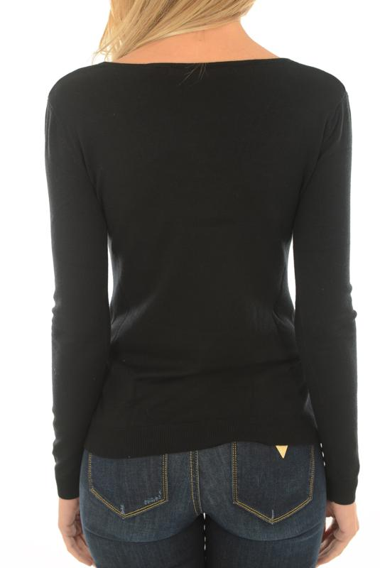GUESS PULL HIVER W74R74 ISA NOIR POUR FEMME