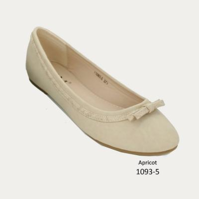 BALLERINES ABRICOT FEMME A BOUT ROND