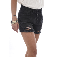 NOISY MAY SHORT DENIM DESTROY MILLE NOIR FEMME