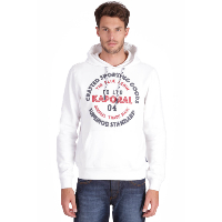 KAPORAL SWEAT CAPUCHE GOSLO BLANC AVEC INSCRIPTION EN RELIEF
