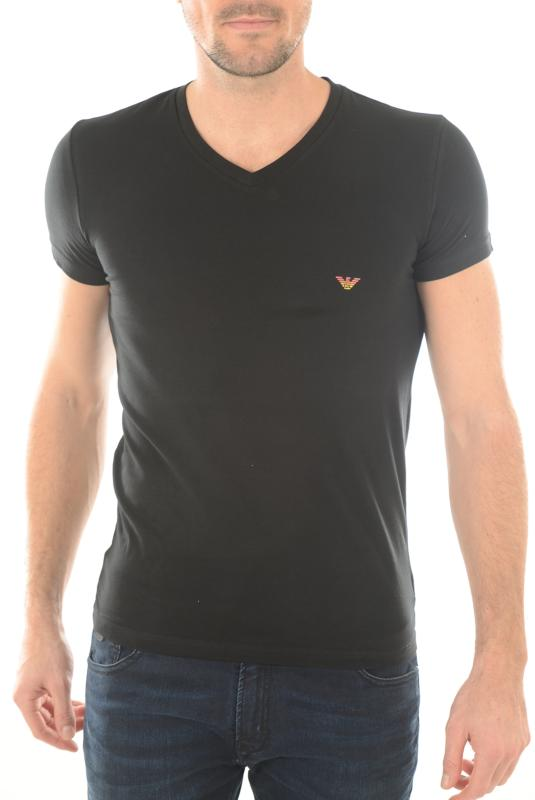 Shirt Emporio Noir Courtes Armani Tee 6p745 110810 Manches wkilOTPXZu