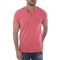 Guess Polo Rose Col Mao En Coton M72p58